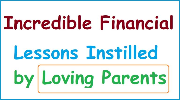 Financial Lessons by Parents