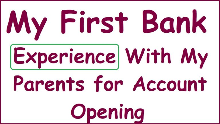 How i opened my first savings bank account